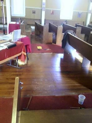 Removing 2 rows of pews